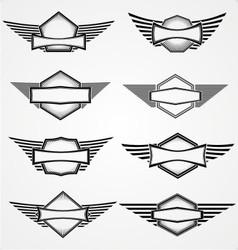 vintage blank emblem vector image