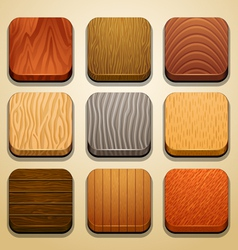 Wood background for app icons-part 2 vector