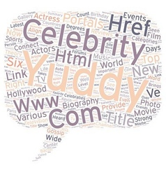 Yuddy com provides celebraties and biography vector