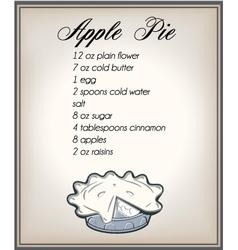 apple pier ecipe vector image