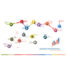 business charts and graphs vector image
