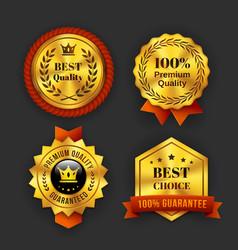 Gold Guaranteed Labels vector image