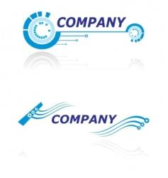 logo for modern company vector image