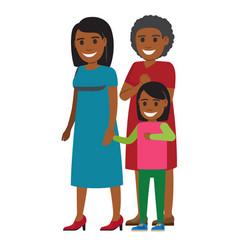 tree generations of women standing together vector image vector image