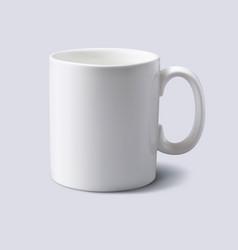 white mug realistic 3d vector image vector image