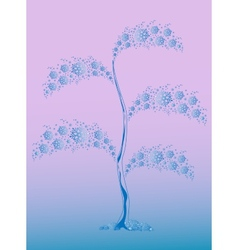 Winter tree from blue snowflakes for Christmas vector image vector image