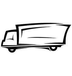 Delivery truck sketch vector image vector image