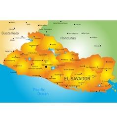 El Salvador vector image vector image
