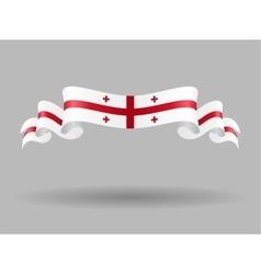 Georgian wavy flag vector image vector image