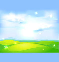 horizontal natural background with blue sky vector image vector image