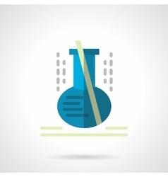 Laboratory glassware flat color icon vector image vector image