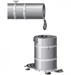last barrel vector image vector image