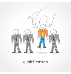 Qualification vector image vector image