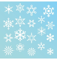 snowflakes silhouettes vector image vector image