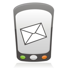 mobile message icon vector image vector image