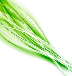 Abstract speed green eco swoosh background vector image vector image