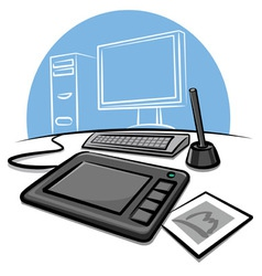digital graphic tablet vector image vector image