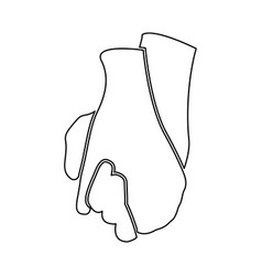 Hand holding another hand sign of love art black vector