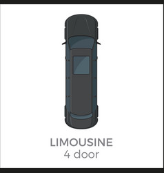 limousine top view flat icon vector image vector image