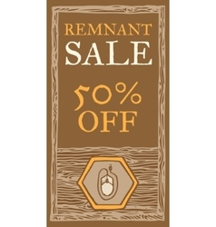 Remnant sale flyer vector image