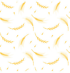 wheat pattern on a white background vector image vector image