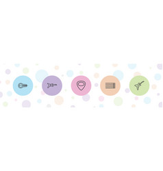 5 guitar icons vector