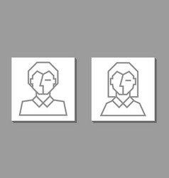 abstract face modern minimalism art woman and man vector image