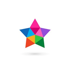 Abstract mosaic star logo icon design template vector image