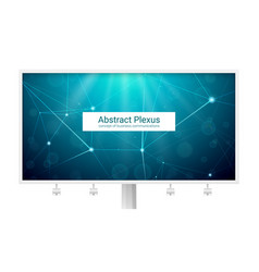 abstract polygonal plexus shapes big billboard vector image