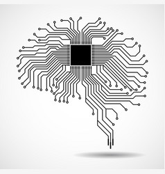 Abstract technological brain cpu vector