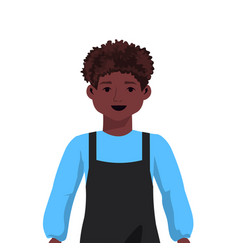 African american cute child male cartoon vector
