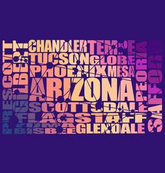 Arizona state cities vector