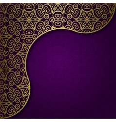 Background with traditional ornament vector image