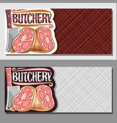 Banners for butchery vector