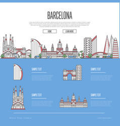 Barcelona city travel vacation guide vector