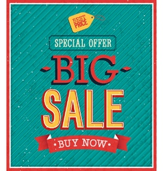 Big sale typographic design vector
