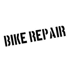 Bike repair rubber stamp vector