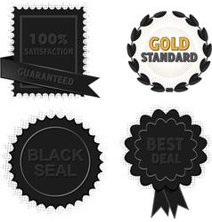 Black badges and seals vector