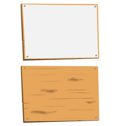 Blank sign and wood sign vector