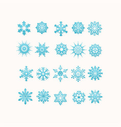 blue snowflakes icon on white background vector image