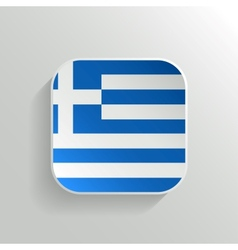 Button - Greece Flag Icon vector image