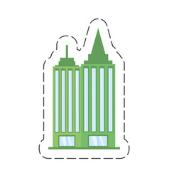 Cartoon building office work vector