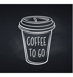 Coffee cup in blackboard style vector