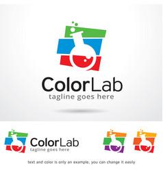 Color lab logo template design vector