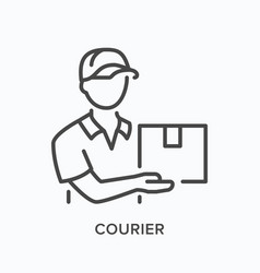 Courier line icon outline vector