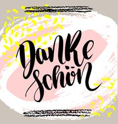 danke schoen thank you in german hand vector image