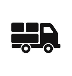 delivery truck icon cargo van symbol vector image