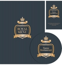 design elements for cafe or restaurant vector image