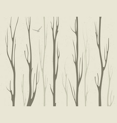Dry branches bamboo trees vector