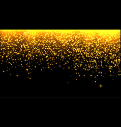 falling stars gold glitter texture vector image